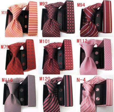 領帶【*╮玫瑰。誌】K14 新款 2016 紅橘色系 斜紋 經典 盒裝三件套 男士商務結婚正裝手打領帶 .直購價299元
