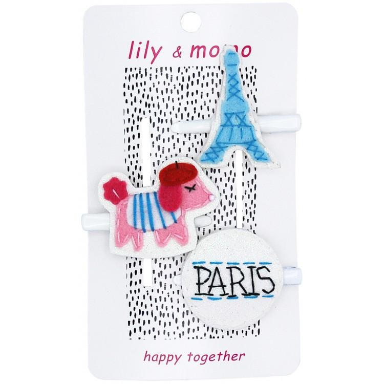 【美國 Lily & Momo】手工童趣髮飾- 經典巴黎系列 #HCA322