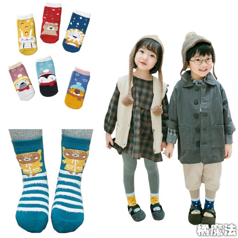 兒童卡通厚款毛圈短襪(3雙一組) 聖誕節 交換禮物 聖誕禮物 橘魔法【p0061166944395】