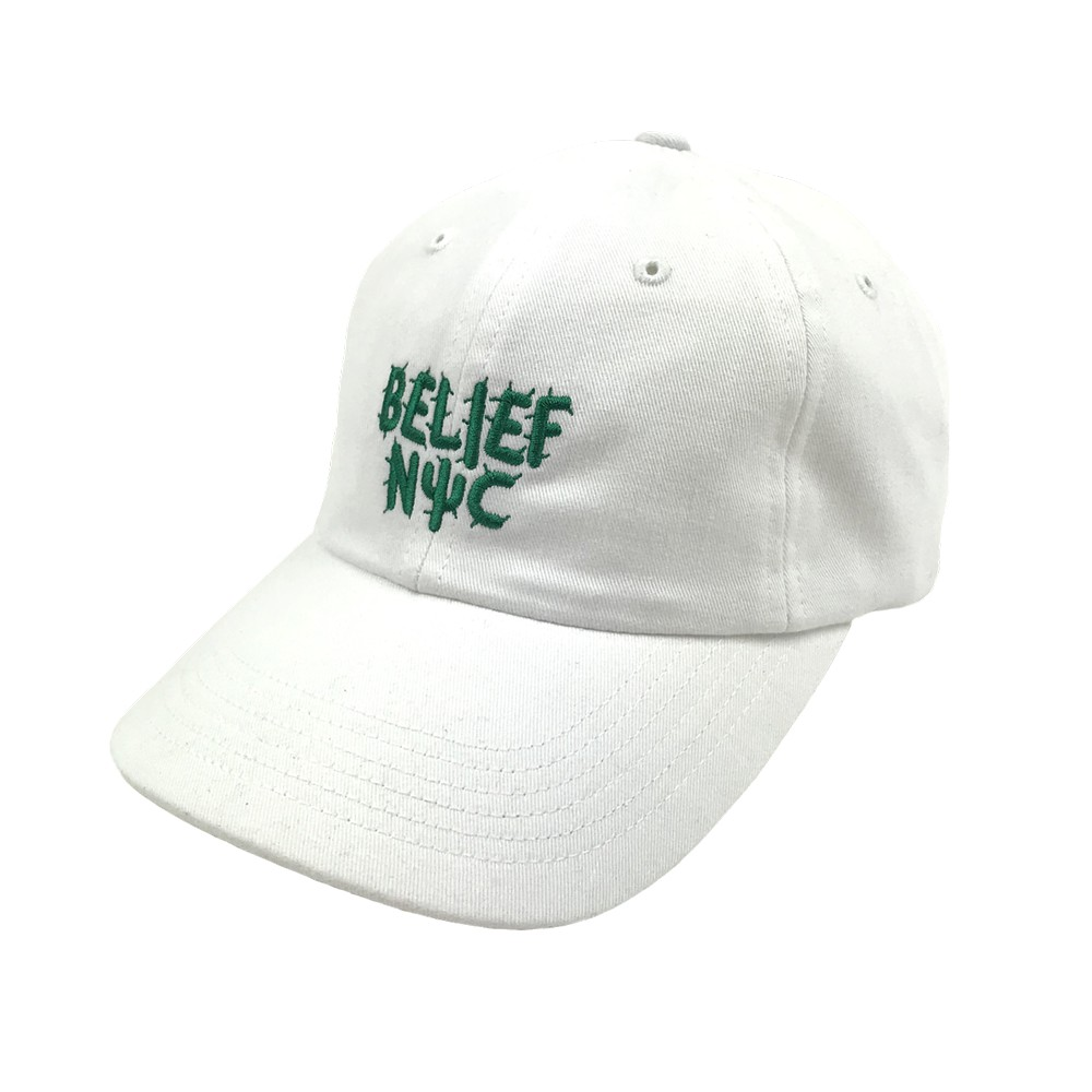 BELIEF NYC CACTUS CAP 老帽 白【A-KAY0】【BLF18FWCCWH】