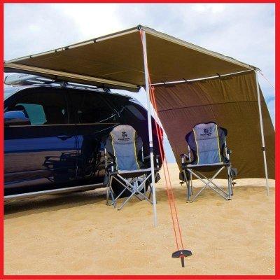 (獨家送快拆組)三分鐘速搭收車邊帳 2*3米 (易安裝/304不鏽鋼配件) 一體成形汽車側邊遮陽棚 車頂天幕 防雨帳篷