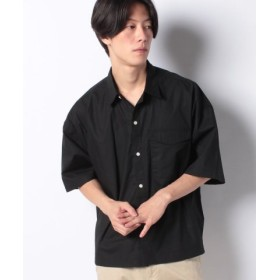 (WEGO/ウィゴー)WEGO/フラップポケット半袖シャツ/メンズ ブラック