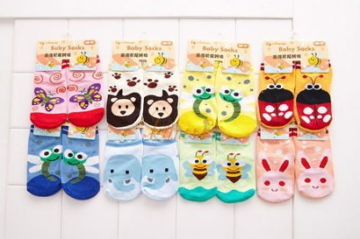 NIKOKIDS寶寶棉襪/短襪/ 防滑襪/ 嬰兒襪/動物造型襪 台灣品牌 寶衣舖【WSG】