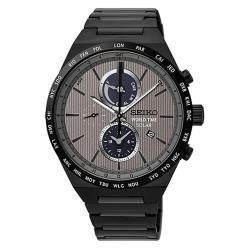 SEIKO 精工 SOLAR 灰色地帶太陽能世界時間腕錶/41mm/V195-0AE0N