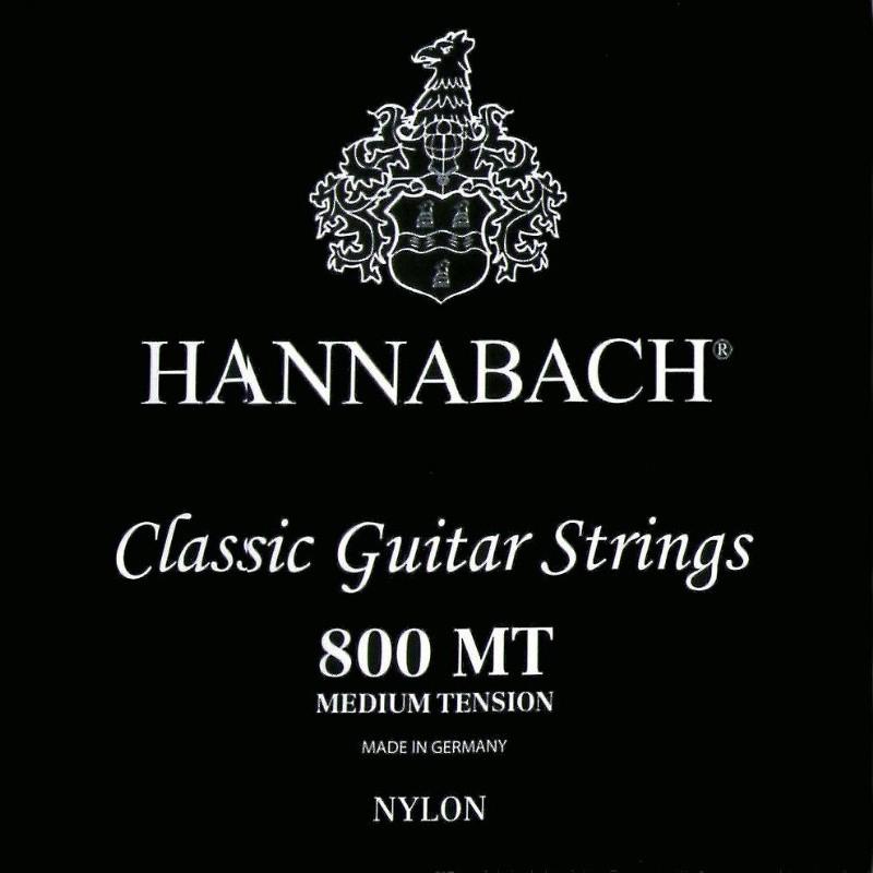 【全館折300】HANNABACH 800MT 古典吉他弦 尼龍弦 一般張力 德國製 800 黑