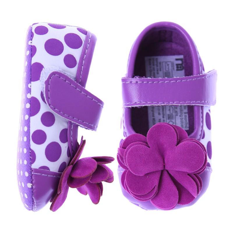 歐美等品牌百搭造型超可愛學步鞋-156紫花朵【60214】貝比幸福小舖