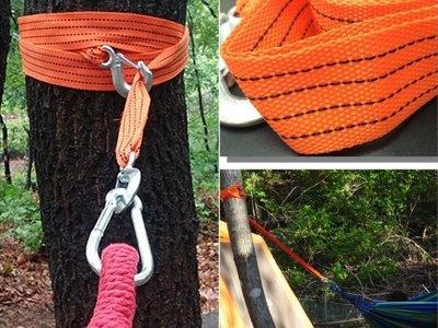 【珍愛頌】A176 吊床專用綁繩 綁帶 3.3米 強力掛勾 2PCS/1組 戶外 露營 野餐 野營 民宿 弔床 釣床