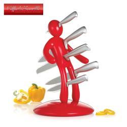 義大利原創設計師Raffaele Iannello鉬釩鋼刀具組(五件式)-紅色-BF-VD001R