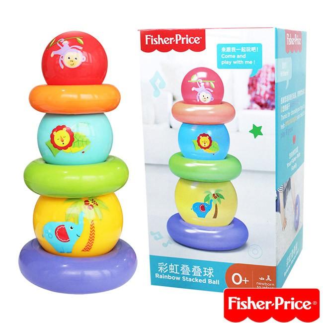 Fisher-Price 彩虹疊疊球【佳兒園婦幼館】