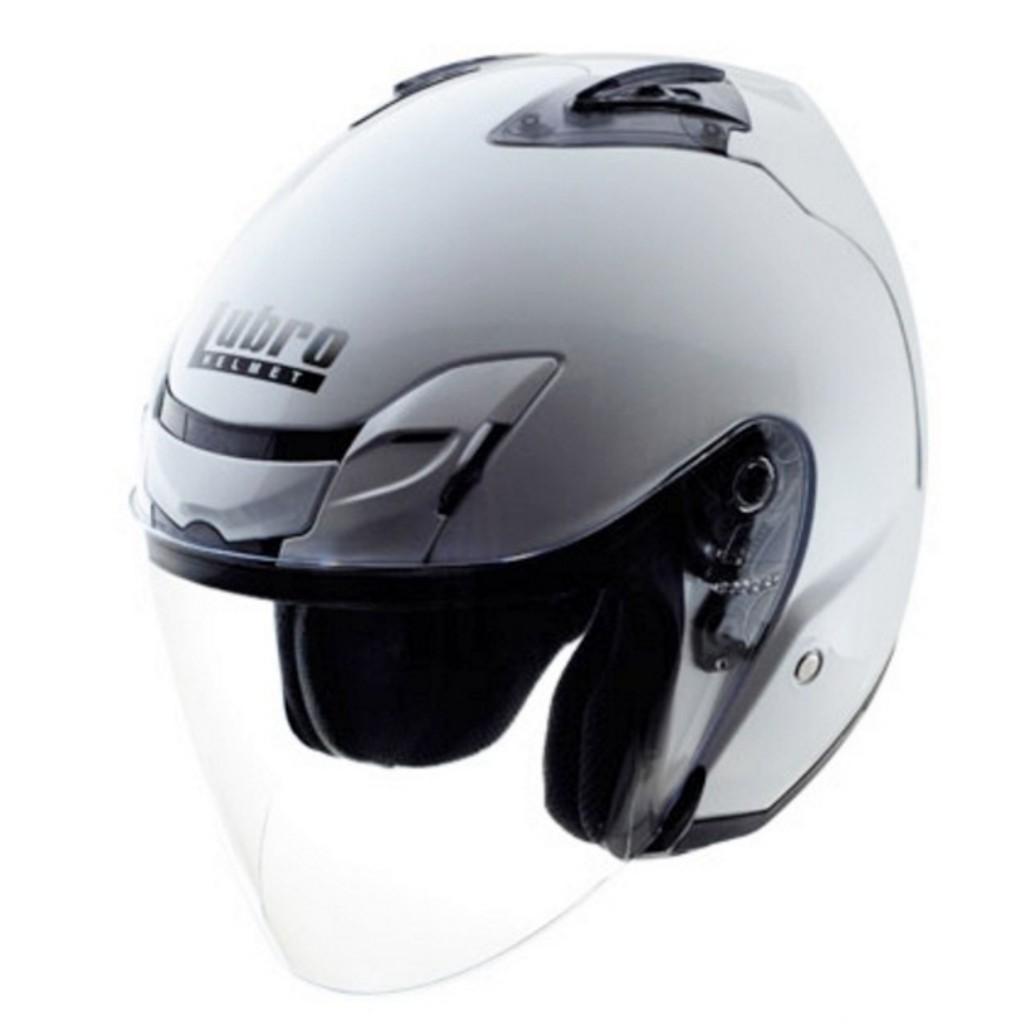 LUBRO AIR TECH 素色 3/4罩 半罩 通風佳 內襯可拆 安全帽 白 水泥灰