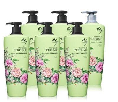 ╭*早安101 *╯【金泰熙】韓國 Elastine 綠野迷情 香水洗髮精/潤髮乳 ↘
