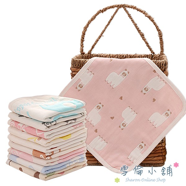 JoyNa口水巾小方巾六層紗布巾兒童毛巾手帕餵奶巾 雪倫小舖【HY2004】