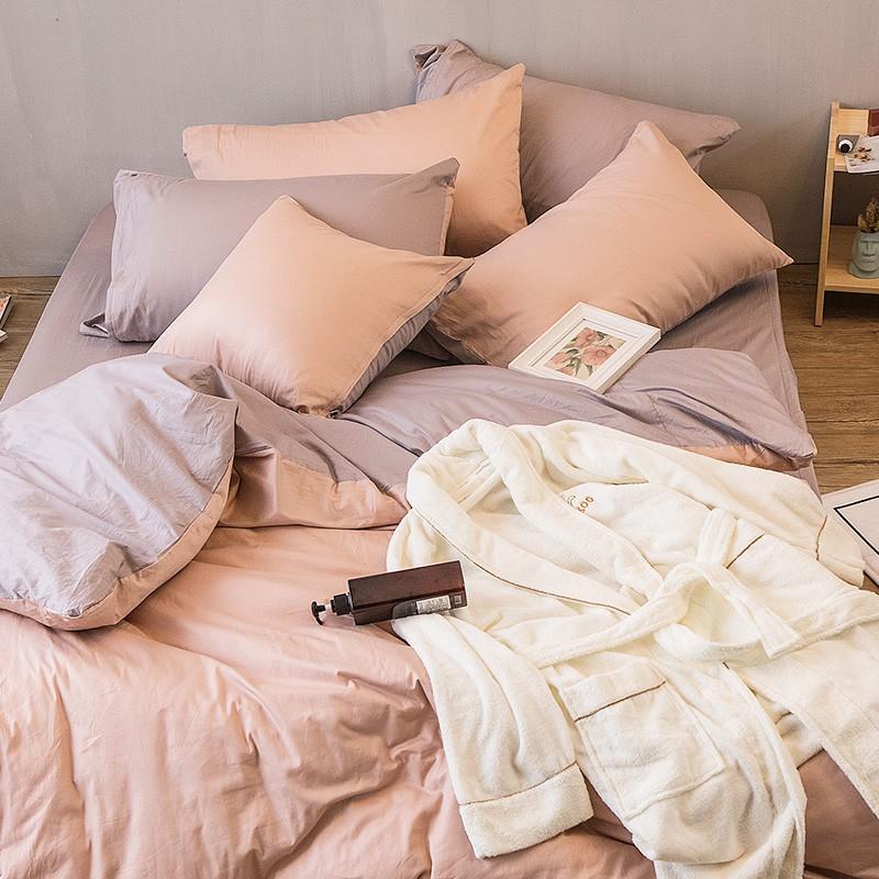 台灣製造‧大鐘印染SGS認證六道工藝‧不退色‧不縮水‧不起毛球不含甲荃安全可靠【單人床包被套組】單人3.5x6.2尺床包x1美式信封枕套x1單人4.5x6.5尺被套x1【雙人床包被套組】雙人5x6.2
