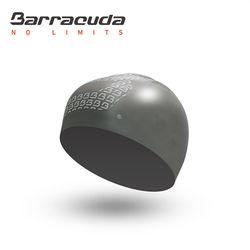 美國Barracuda巴洛酷達成人矽膠3D泳帽-銀