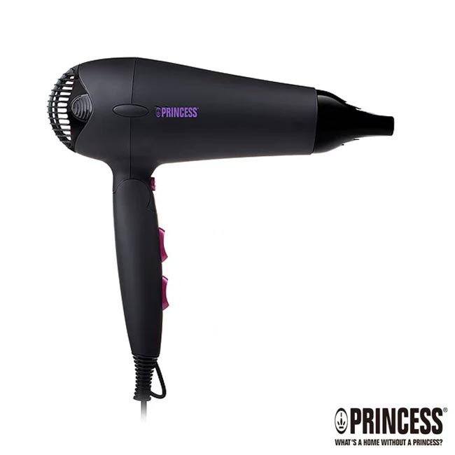 荷蘭公主 Princess 水潤負離子吹風機-黑色 505019