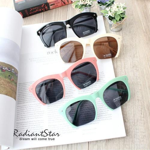 韓國首爾同步復古半框墨鏡 太陽眼鏡【U9242】璀璨之星