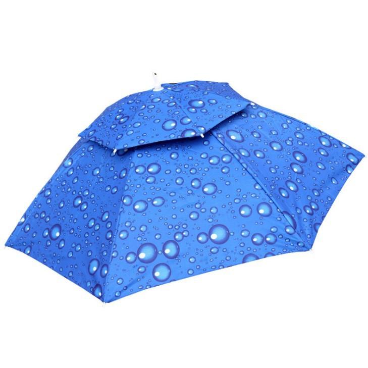 釣魚帽遮陽雨帽【SG325】95CM傘帽 二折雙層防風釣魚傘帽頭戴傘帽折疊頭戴傘釣魚帽遮陽居家必備xxxxboykimo