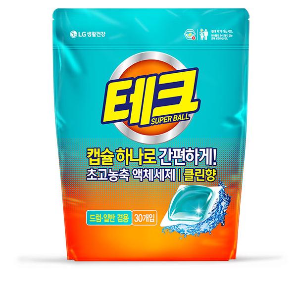 韓國LG原味洗衣膠囊30顆(450g/袋)