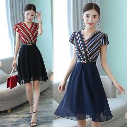 韓國K.W. (預購) 時尚穿搭顯瘦名媛洋裝