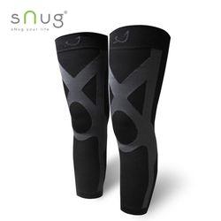 SNUG運動壓縮全腿套-1雙(黑灰款)
