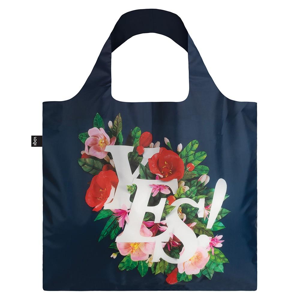 LOQI春捲包/購物袋-YES (耐重20公斤/防潑水面料/三種收納/購物袋/收納袋/愛地球)
