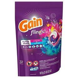 美國PG Gain第四代4合一洗衣凝膠球-野花瀑布香(927g/32顆)*4包/箱購