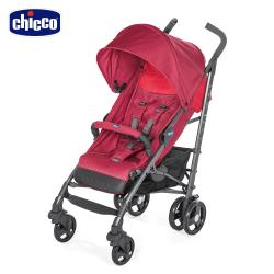 【加贈頸枕】chicco-Lite Way3 樂活輕便推車-野莓紅