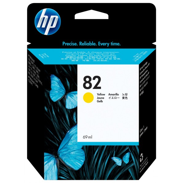HP NO.82 原廠黃色墨水匣 C4913A (69ml) 適用HP DJ500/DJ800