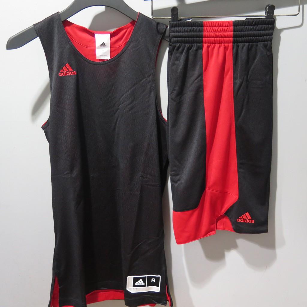 Adidas 球衣CD8698短褲 CD8685 紅黑配色 一套(衣加褲) $ 999 iSport愛運動 版偏窄