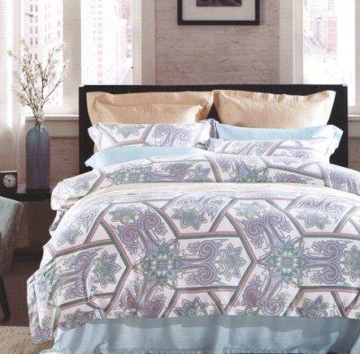 【名流寢飾家居館】喬伊斯.100%天絲.360條紗.超柔觸感.加大雙人床包組兩用鋪棉被套全套