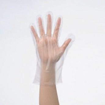 「現場のチカラ」 使いきりHDポリエチレン手袋 L 片エンボス 1袋(100枚入) ファーストレイト