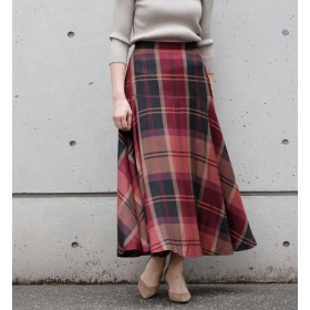 【リエス/Liesse】 チェックフレアースカート