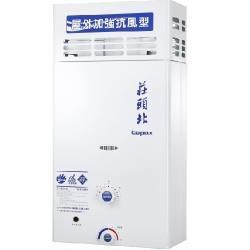 (全省安裝)莊頭北 12公升抗風型15排火熱水器 TH-5127RF
