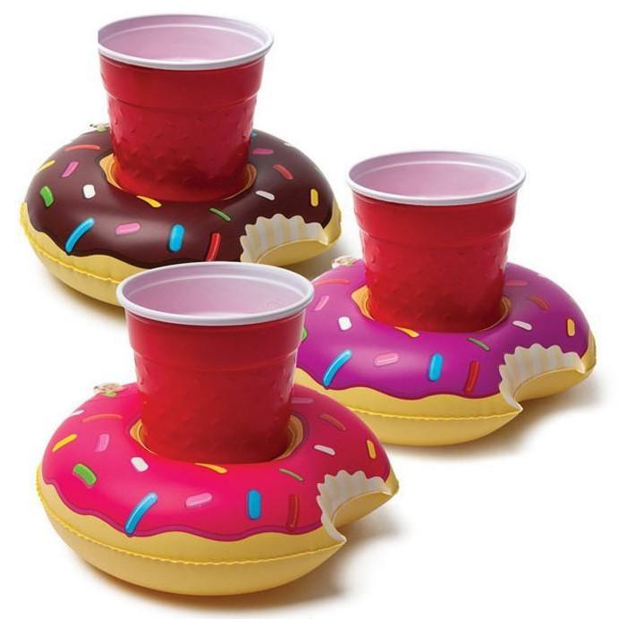 【水上充氣杯架】歐美充氣甜甜圈火烈鳥手機座水上可樂杯座飲料杯座兒童玩具 DIGITAL INTERNATION1128劉