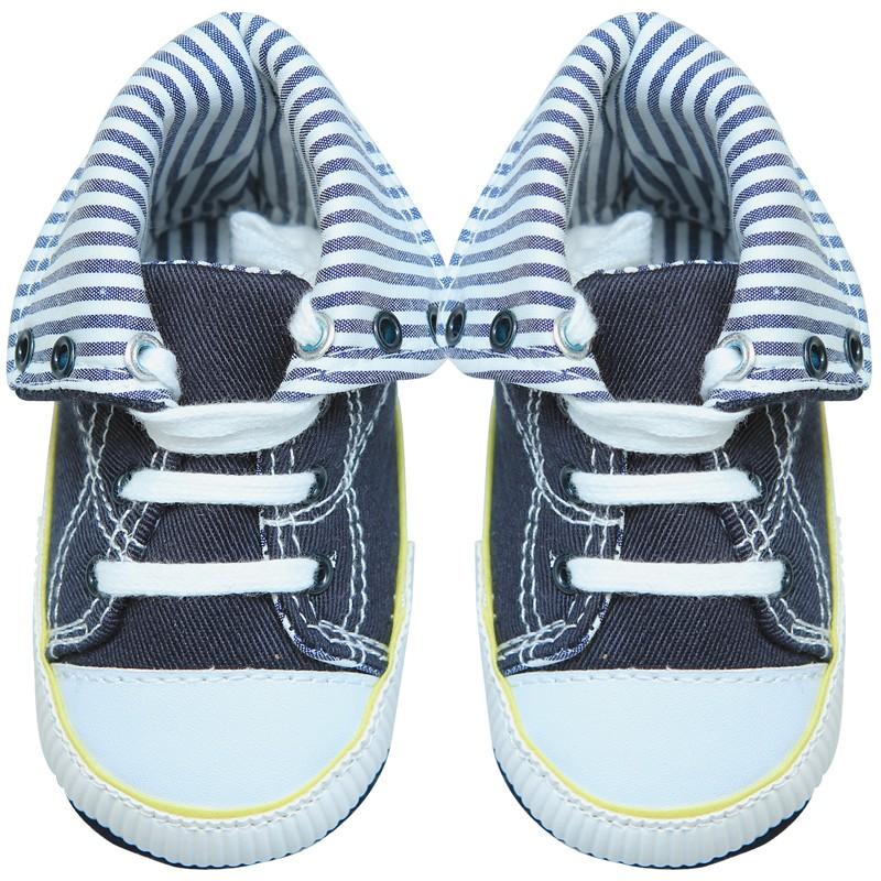 歐美等品牌百搭造型超可愛學步鞋-26藍色帆布【60214】貝比幸福小舖