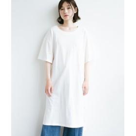 (haco!/ハコ)1枚で着ても重ね着もかわいいビッグTシャツワンピース/レディース ホワイト