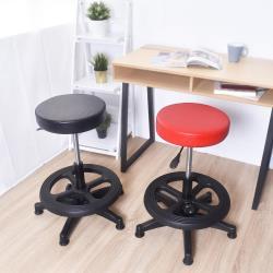 凱堡 馬卡龍特規20公分 附腳踏圈 皮革旋轉吧檯椅