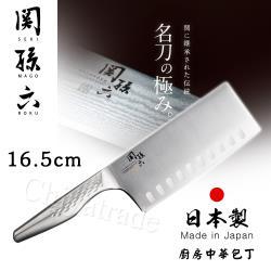 日本貝印KAI 日本製關孫六一體成型不鏽鋼刀16.5cm(廚房中華包丁菜刀)