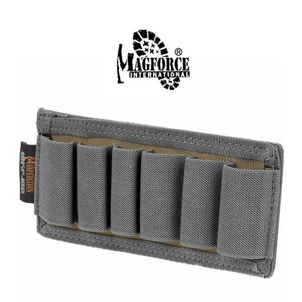 Magforce 馬蓋先 - 氈黏式6發鳥槍彈袋 / 散但槍彈夾袋 (卡其灰) - 1466 【詮國】