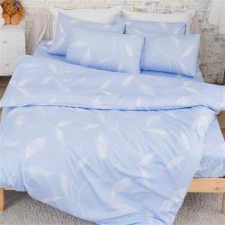kokomos扣扣馬 鎮瀾宮大甲媽授權精梳棉205織紗新式雙人兩用被-飄羽-藍