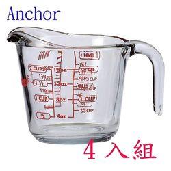 美國Anchor專業級強化玻璃量杯500cc-四入裝組