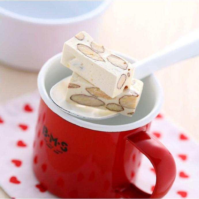 【聯翔餅店】杏仁果牛奶鬆糖(一斤/半斤/450g袋裝禮盒)