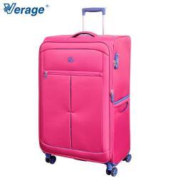 Verage 28吋 超輕量經典格紋環保旅行箱三代(紅)