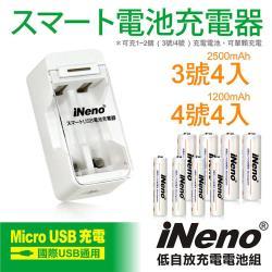 【iNeno】9V/850mAh鋰電充電池(2入)+9V鋰電專用充電器