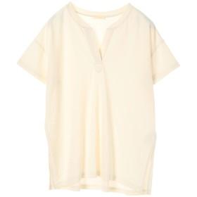 アースミュージックアンドエコロジー earth music & ecology スキッパーチュニックTシャツ (Off White)