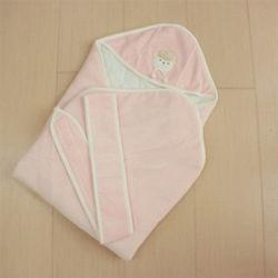 GMP BABY 台灣製舒適寶貝粉紅色羊絨包巾1件