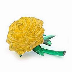 iSFun金黃玫瑰 立體水晶拼圖