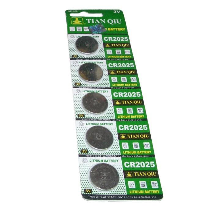 環保型鈕扣電池/水銀電池CR2025(一卡5顆)~不拆售【GU212】
