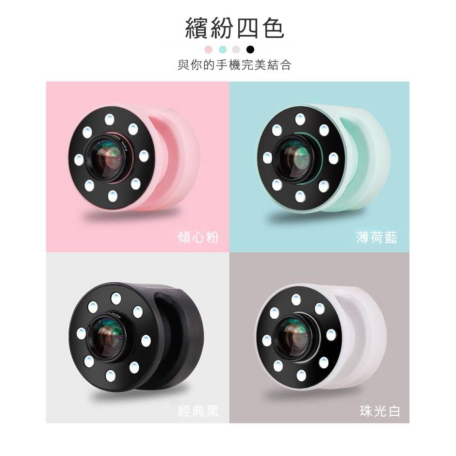 氣囊式廣角+微距 2合1LED補光燈鏡頭XJ-08