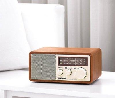 古典風 SANGEAN 山進 WR-11 復古式收音機 重低音DBB/大功率輸出/AUX IN/錄音輸出孔